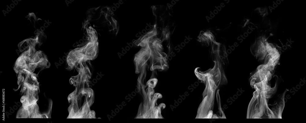 Fototapety, obrazy: Steam on black background