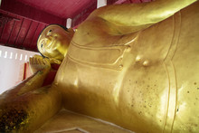 A Reclining Buddha At Wat Phra...