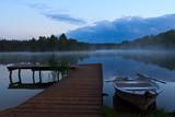 pomost  jezioro Białe Augustowskie