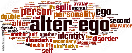 Photo Alter ego word cloud