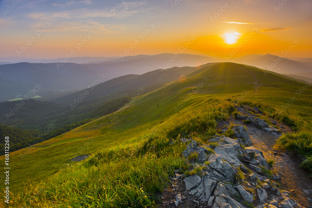 Fototapety, obrazy: Sunset in the mountains
