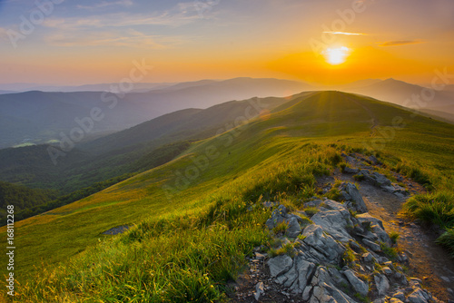 Fototapeta Sunset in the mountains obraz