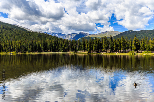Echo Lake at Mt. Evans in Colorado, Fotobehang
