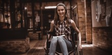 Disabled Schoolgirl On Wheelch...