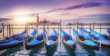 Panel Szklany Podświetlane Wenecja venice at sunrise