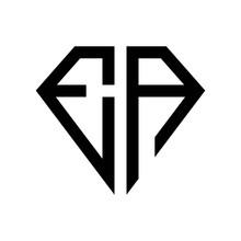 Initial Letters Logo Ea Black Monogram Diamond Pentagon Shape