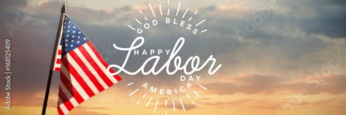 Photo Composite image of composite image of happy labor day and god bl