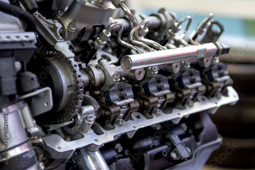 Fotografie, Tablou  Common-rail injection system of Diesel Engine   ディーゼルエンジンのコモンレール燃料噴射システム