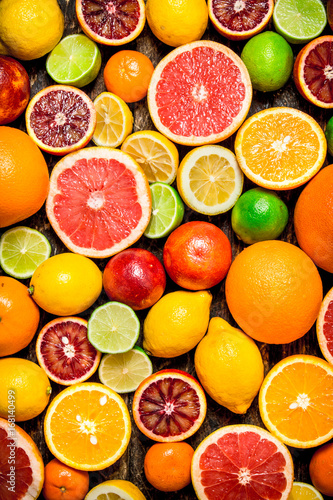 Canvastavla Citrus background