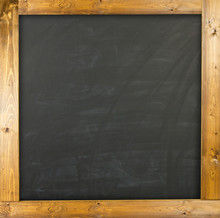 Blank Chalkboard With Wood Frame.