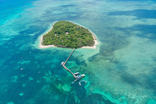 Aerial Of Green Island In Tropical Queensland