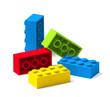 canvas print picture - Colorful building toy blocks 3D
