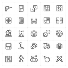 Icon Set – Game And Toy Vector Illustration