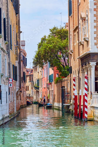 Foto op Canvas Venice canal with buildings in Venice, Italy