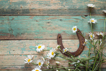Rustic Background With Rusty H...