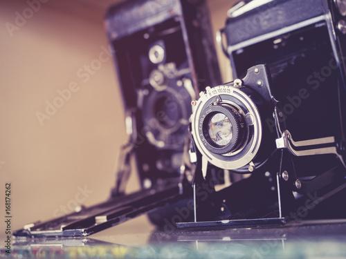 Fotografía  Vintage Cameras Old antique collection