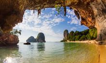 Pranang Cave Beach, Krabi, Tha...