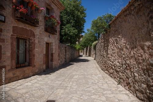 Calle rustica de un pueblo de Soria