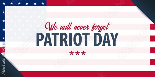 Fotografia  Patriot day background. September 11. We will never forget.