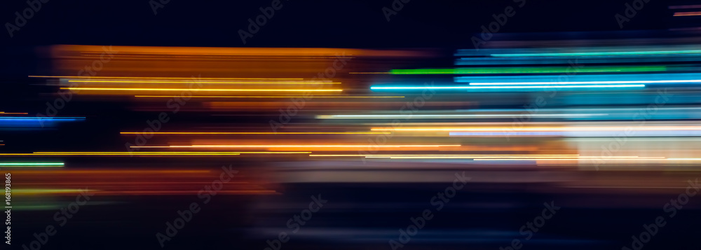 Fototapety, obrazy: Multicolor light trails