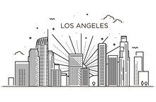 Banner Of Los Angeles City In ...