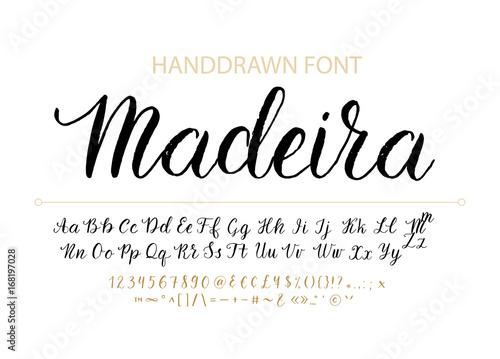 Fotografia Handdrawn Vector Script font