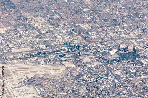 Obraz na dibondzie (fotoboard) Widok z lotu ptaka Las Vegas, Nevada