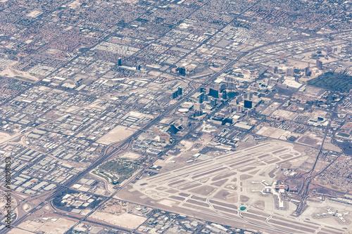 Obraz na dibondzie (fotoboard) Widok z lotu ptaka Las Vegas, Nevada w ciągu dnia