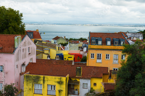 Foto op Canvas Wild West top panoramic view over a district in Lisbon