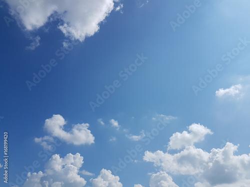 Aluminium Prints Heaven blue sky with clouds