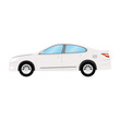 Car vector template on white background. Business sedan isolated. white sedan flat style. side view