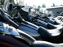 Geparkte Motorräder