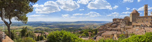 Fotobehang Toscane Toskana-Panorama, Volterra im Chianti-Gebiet
