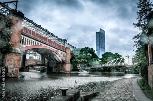 Photo  Manchester skyline, Castlefield canals