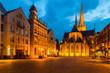 canvas print picture - Willibrordi Dom und historisches Rathaus am Weseler Großen Markt