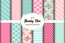 Set Of 12 Cute Seamless Shabby...