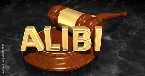 Photo Alibi Law Concept 3D Illustration