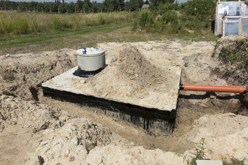 Concrete house cesspit or waste water tank