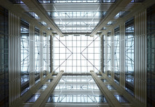 Pattern Glass Ceiling