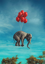 .Conceptual Image Of An Elepha...
