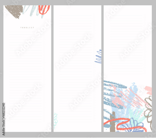 Fototapety, obrazy: To do list.  Hand drawn brush strokes. Abstract tropical background in pastel colors.