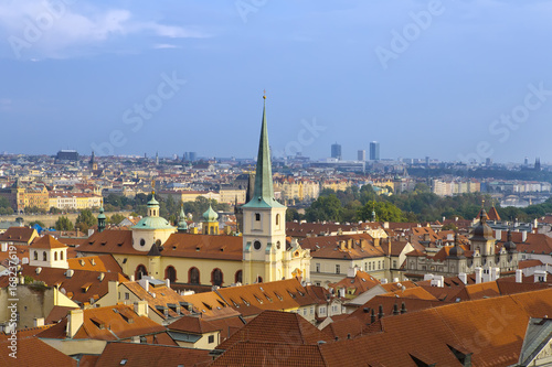 view from the observation deck on the old city, Prague, Czech Republic Poster