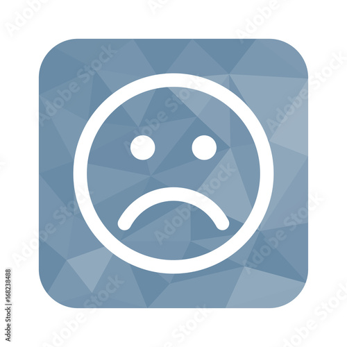 Low Poly Button Trauriges Gesicht Buy This Stock Vector And
