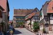 Straße mit Fachwerkhäusern in Boersch