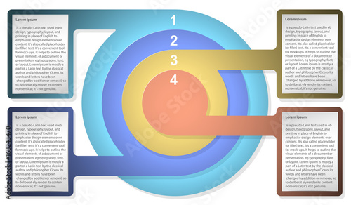 Infographic diagram template with concentric circles for web design infographic diagram template with concentric circles for web design presentation graph chart ccuart Images