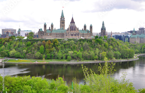 In de dag Canada Parliament Buildings and Library, Ottawa, Ontario, Canada.