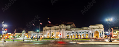 View of Union Station in Washington DC at night Canvas Print