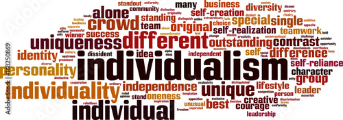 Individualism word cloud Canvas Print