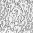 canvas print picture Question mark background - 3d render