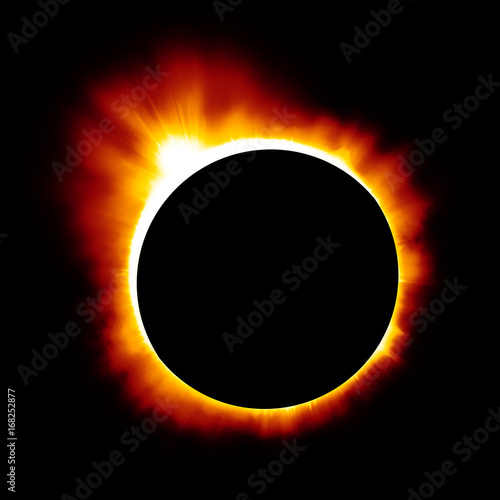 Solar eclipse background